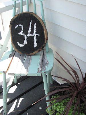 The Simple Craft Diaries: Wood Slab House Number