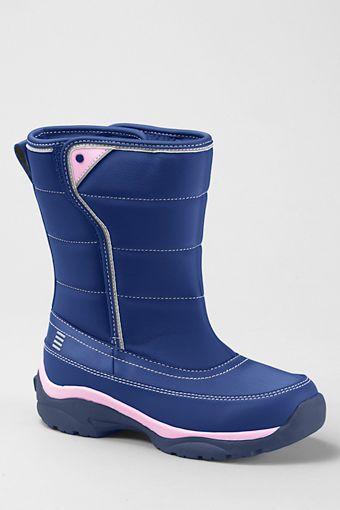 Snow Flurry Stiefel für Kinder - Lila - 37 von Lands' End F5ocMTQCih