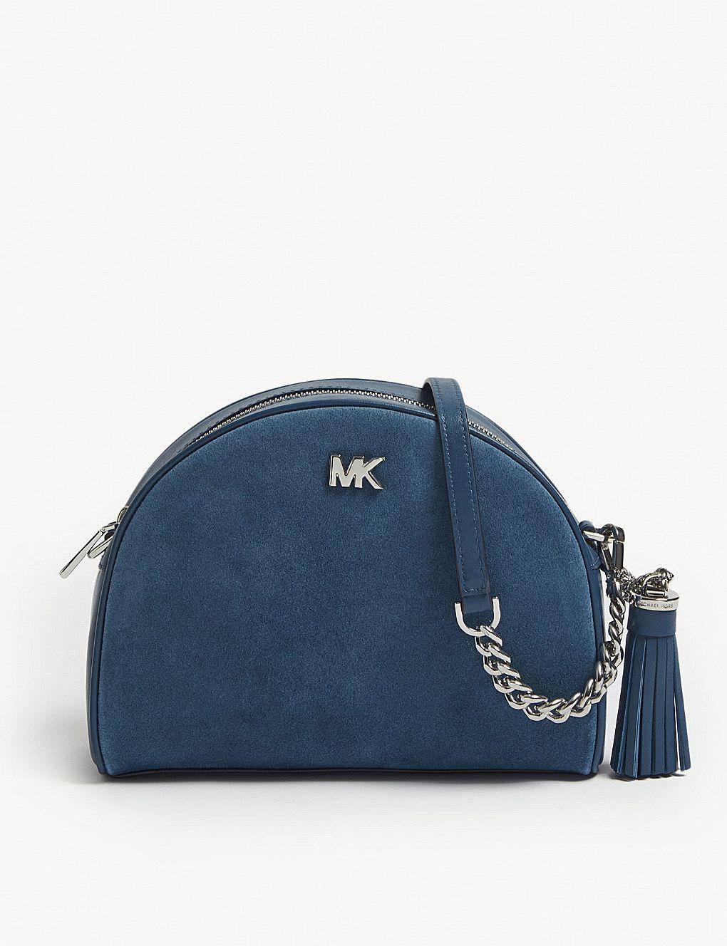 חנויות פופולריות מכירת הנחות חצי מחיר MICHAEL MICHAEL KORS Ginny leather half moon cross-body bag ...