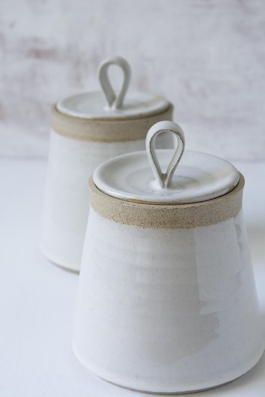 Handmade Ceramic Kitchen Canister
