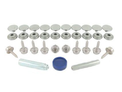 Press Stud Fastener Durable Blister Packs Stainless Steel Grades Press Studs Blister Pack