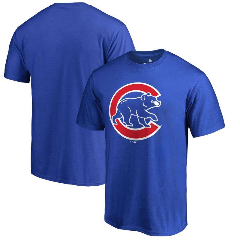 Cubs Fanatics Branded Big & Tall Primary Logo T-Shirt - Royal