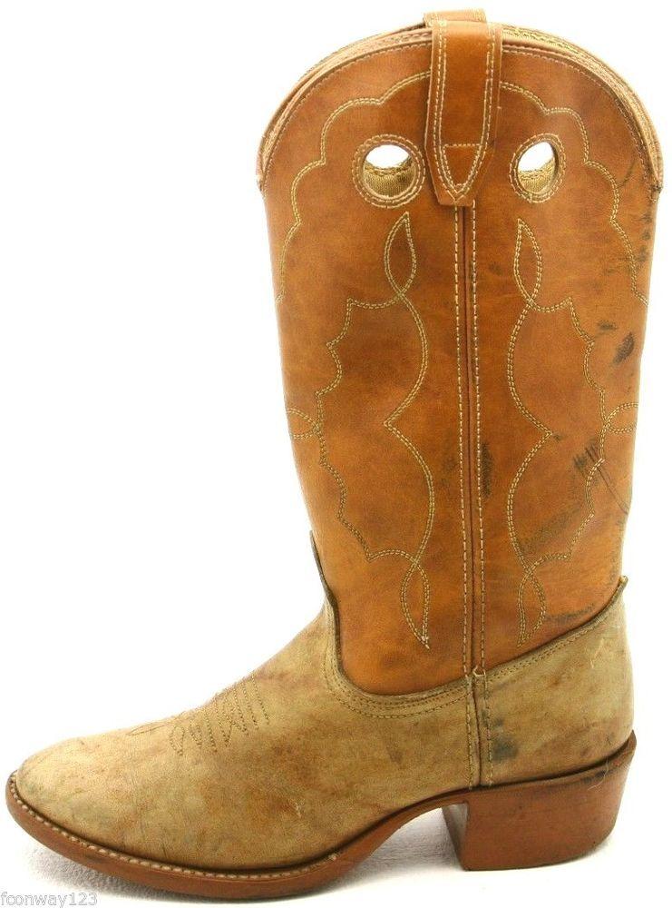 b6fd5d9a2e3a9 Details about Acme Womens Cowboy Boots Size 7 M gray Leather Western ...