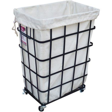 Laundry Bags At Walmart Prepossessing Better Homes And Gardens Rectangular Caged Hamper With Wheels Black