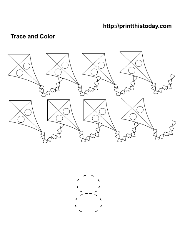 Number 8 preschool activity | Free Printable Worksheets and coloring ...