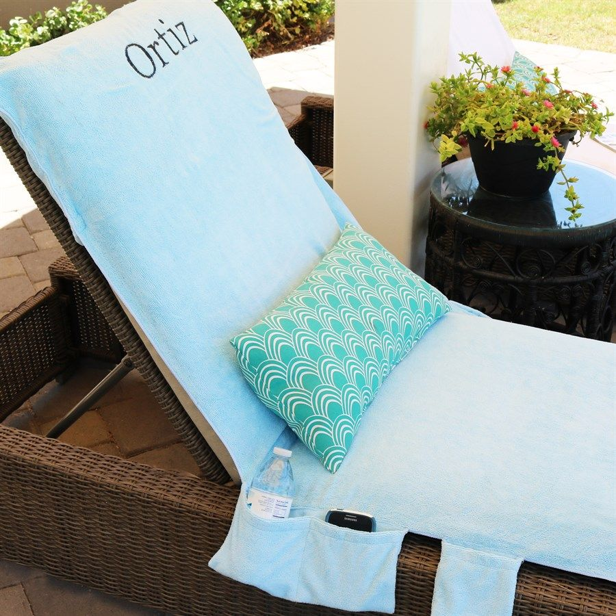 Lounge Chair Towels Monogrammed Lounge Chair Towel Covers With Pockets Fun Finds