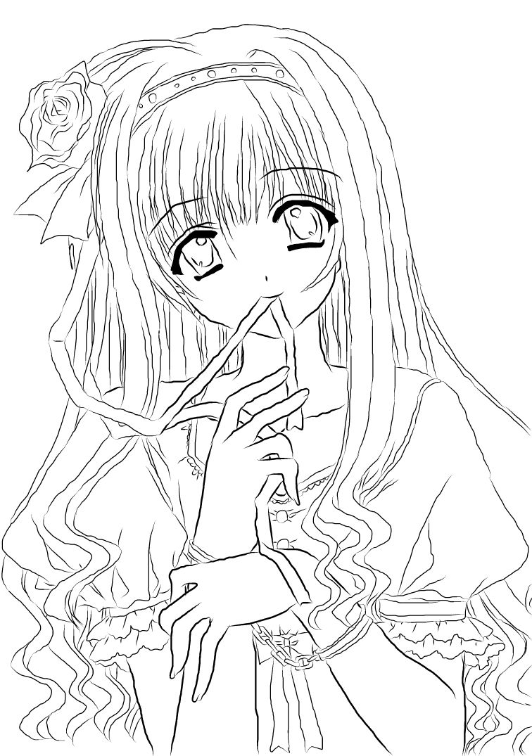 Anime girl lineart new by nanachan1999.deviantart.com on @DeviantArt ...