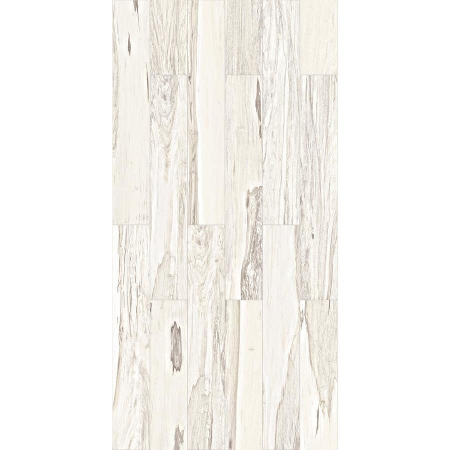 Style Selections Brazilian Pecan White Wood Look Porcelain Floor
