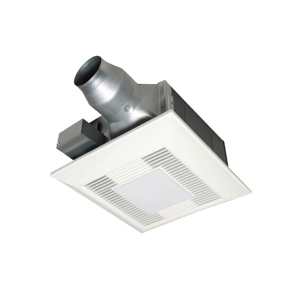 Panasonic 80 Or 110 Cfm Ceiling Dual Speed Exhaust Fan With Compact Fluorescent Lamp Designed For Renovation Applications White Lamp Design Fluorescent Lamp