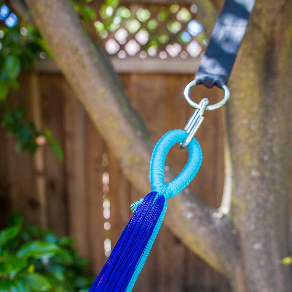 Hang your hammock the old-fashioned way- between two trees or on your front…