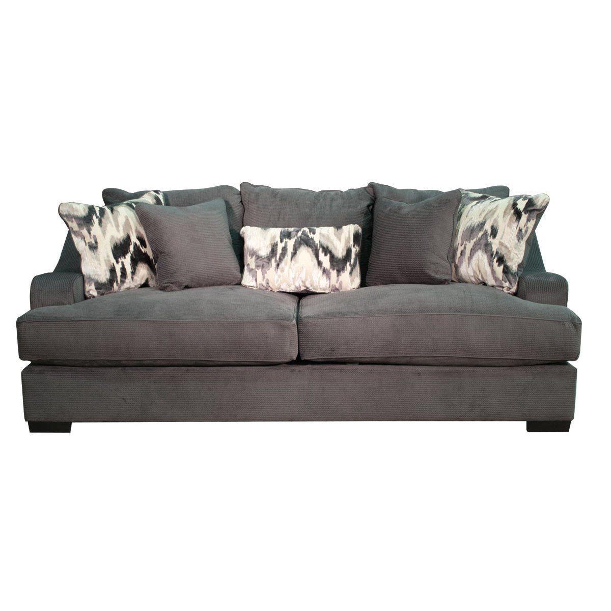 Marvelous Casual Modern Charcoal Gray Sofa Spartan Living Room Beatyapartments Chair Design Images Beatyapartmentscom