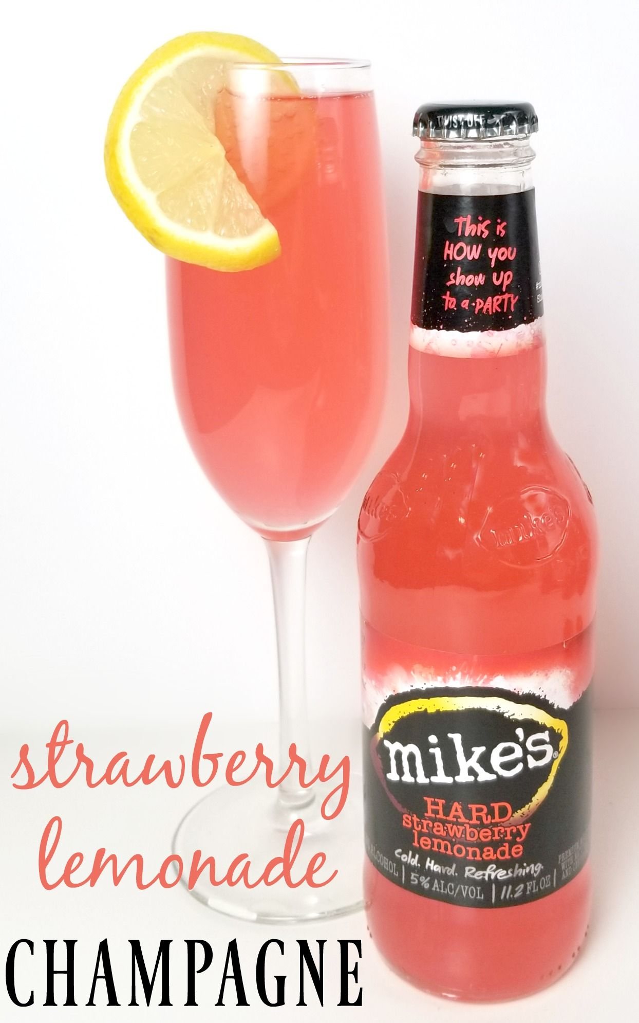 Brighten Up Your New Year S Eve Celebration With Strawberry Lemonade Champagne Strawberry Drinks Strawberry Lemonade Strawberry Lemonade Drink