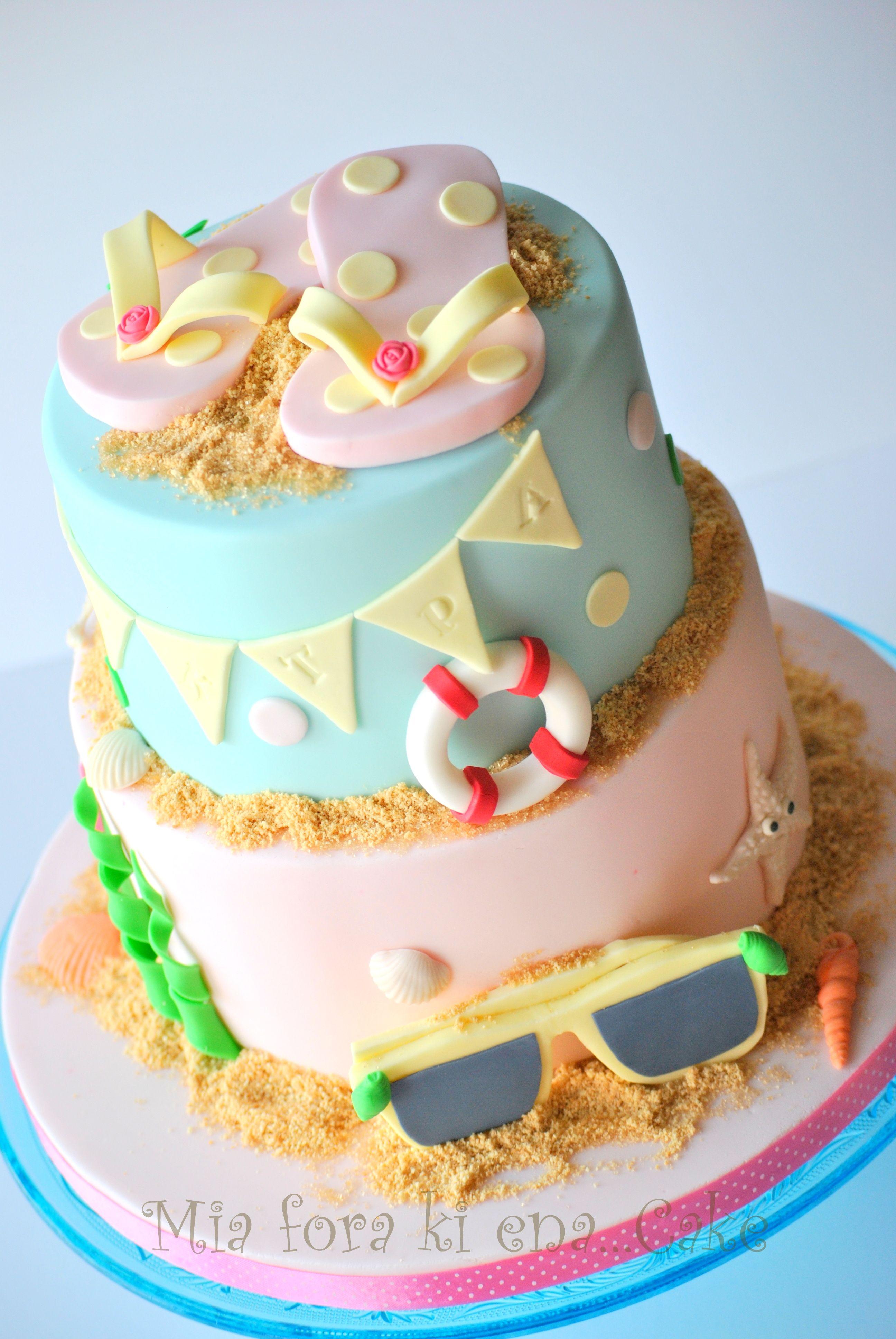 Birthday Cakes Cake flip flops Cakes Pinterest Birthday