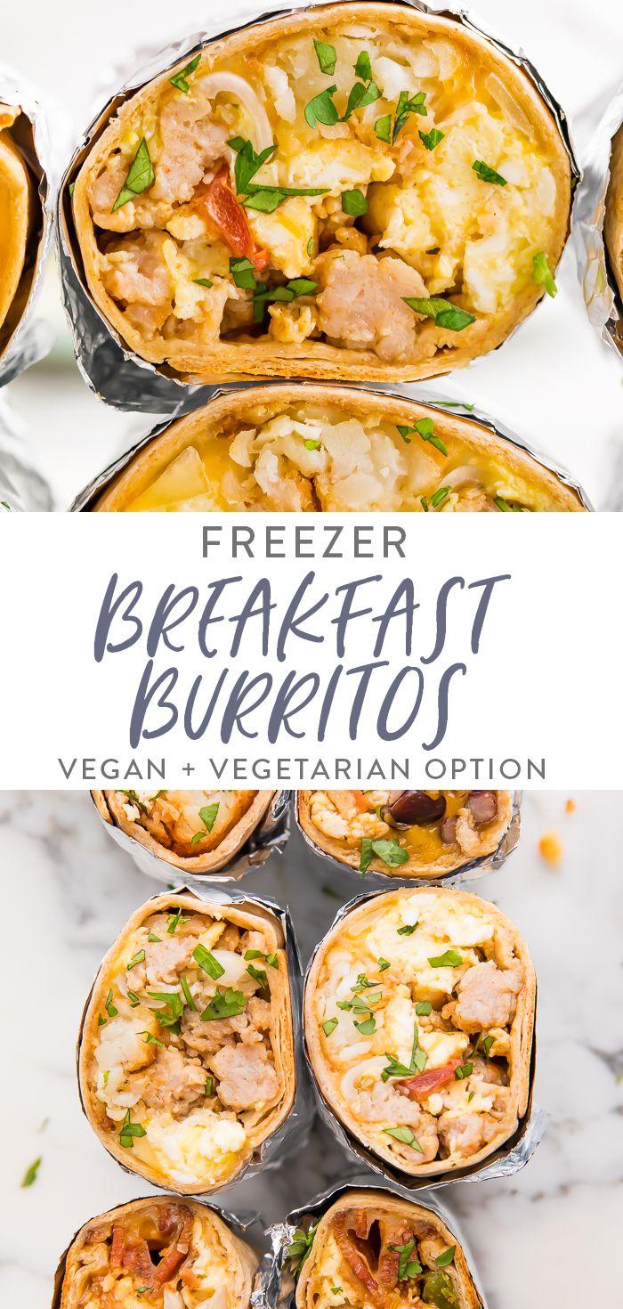 Freezer Breakfast Burritos - (Incl. Vegan Option) | 40 Aprons
