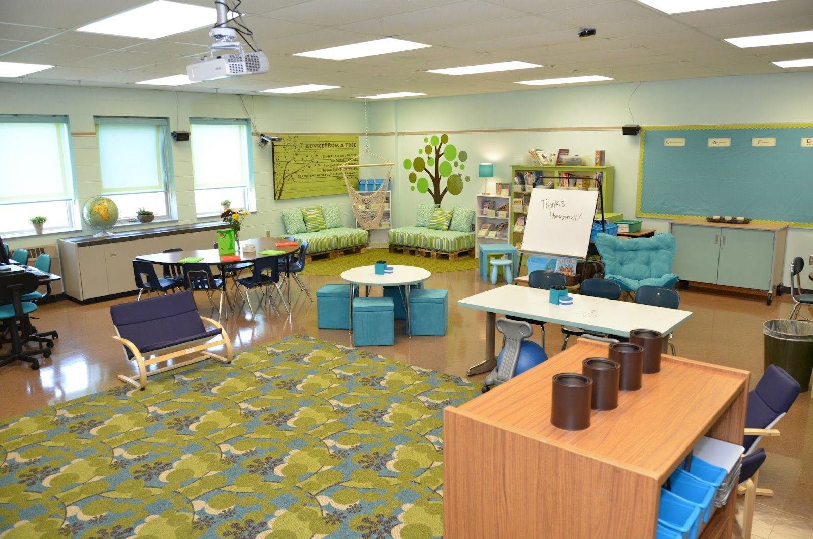 Classroom Design Colors : Classroom simple makeover love the peacefulness