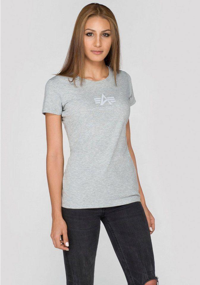 716aa4985be Alpha Industries T-Shirt »Basic T Wmn« mit kleinem Markenlogo-Print ...