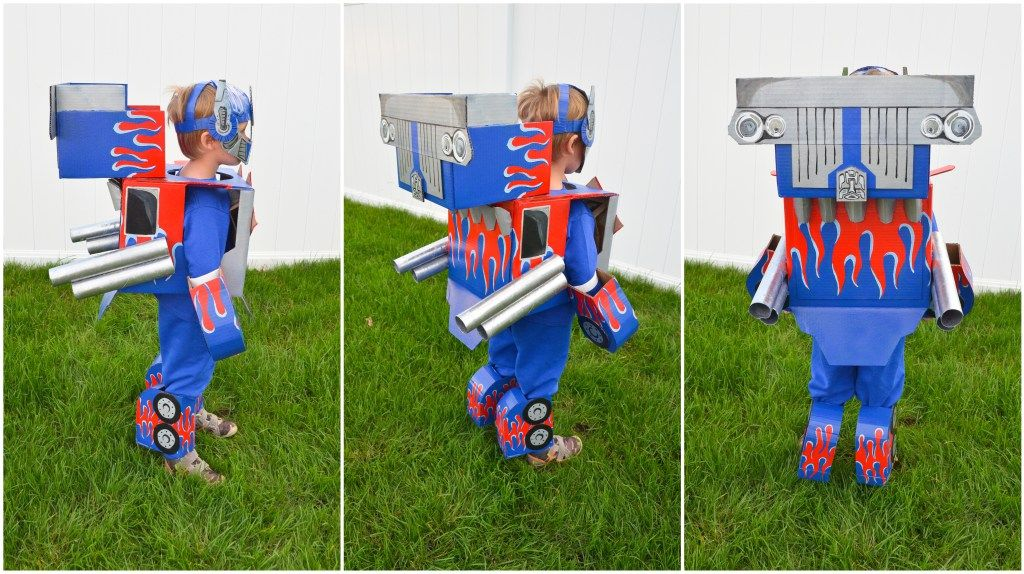 Optimus Prime Transformers Costume Cardboard
