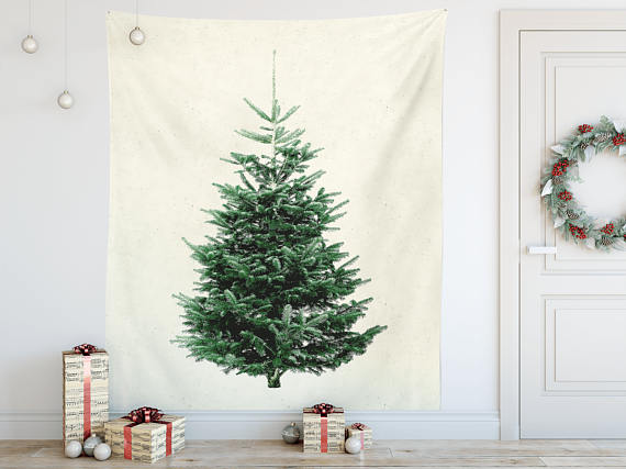 Christmas Tree wall tapestry Modern Christmas decoration An