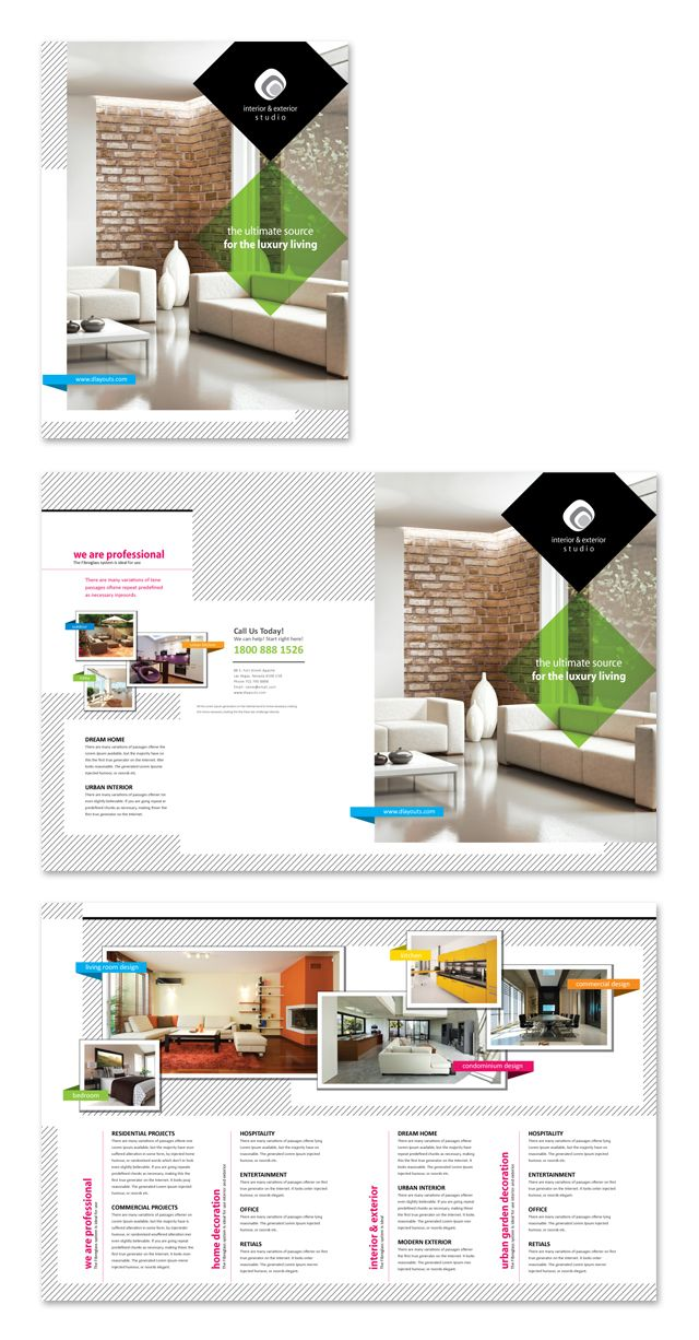 Interior \ Exterior Studio Brochure Template http\/\/wwwdlayouts - studio brochure