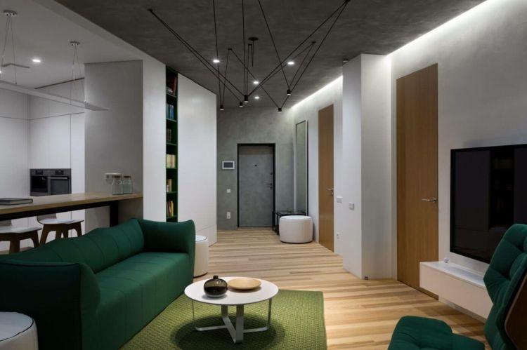 Die Farbe Grün als peppiger Akzent in der modernen Einrichtung