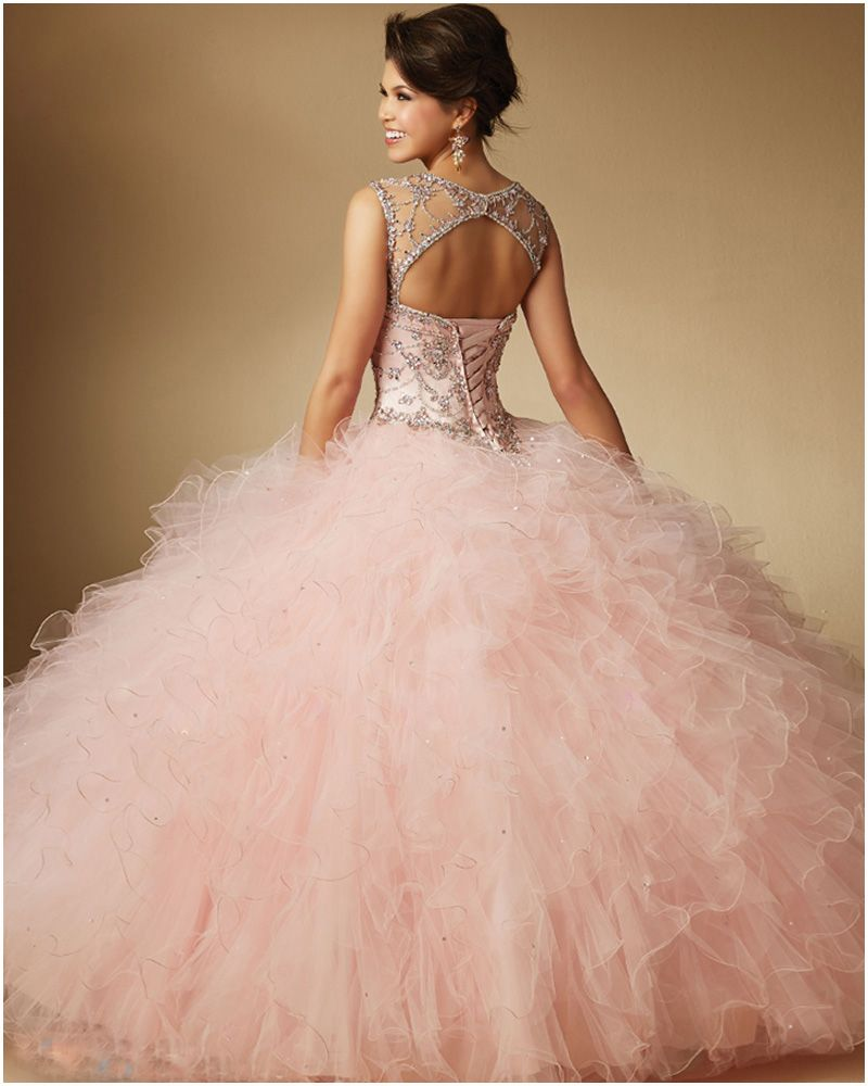 Quinceanera Dresses 2016 O neck Ball Gown Quinceanera Gowns For 15 ...