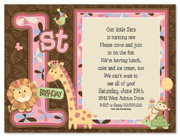 First Birthday Invitation Wording and 1st Birthday Invitations – Birthday Invitations Message