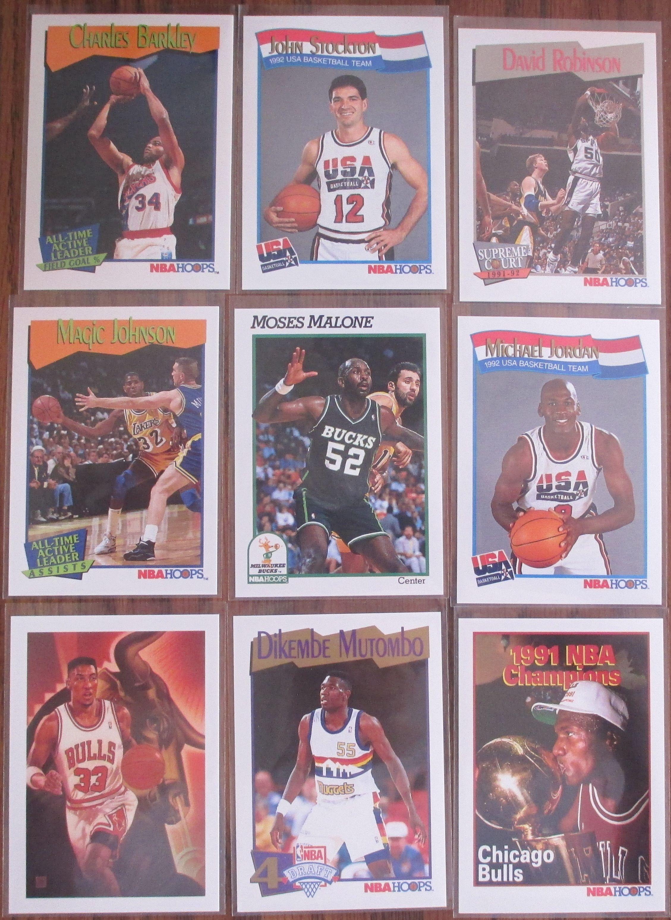 19911992 nba hoops series 2 baseball cards chicago