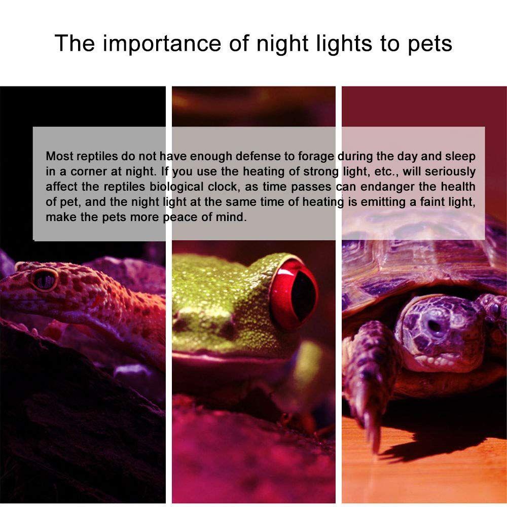 Ocamo E27 220v Heat Lamp Light Bulb Uva Reptile Night