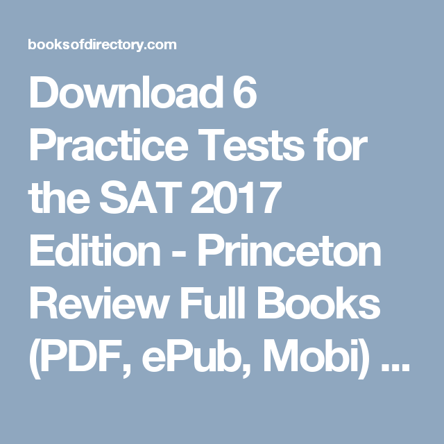 9 practice tests for the sat 2018 edition pdf free download