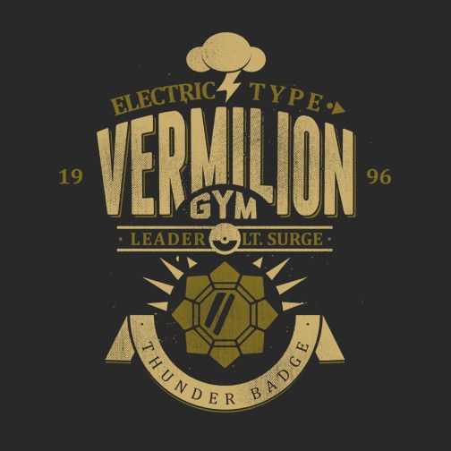 Vermilion Gym T-Shirt $12 Pokemon tee at Once Upon a Tee!