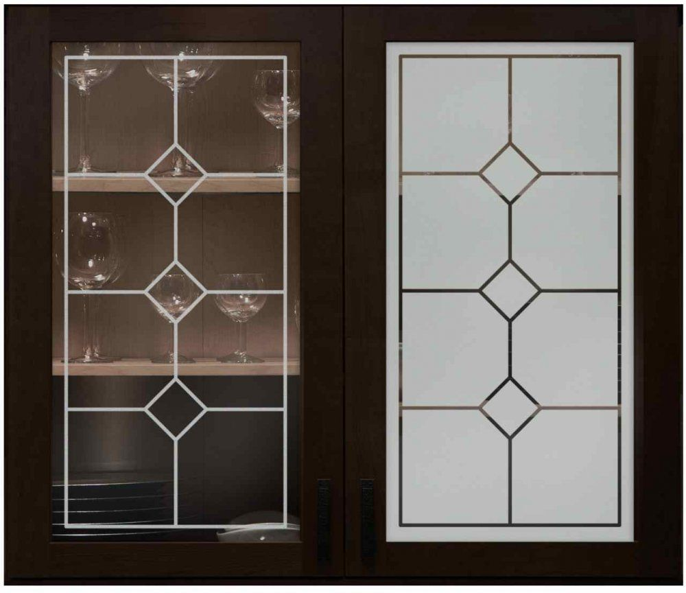 Cabinet Glass With Frosted Designs Sans Soucie Art Glass Glass