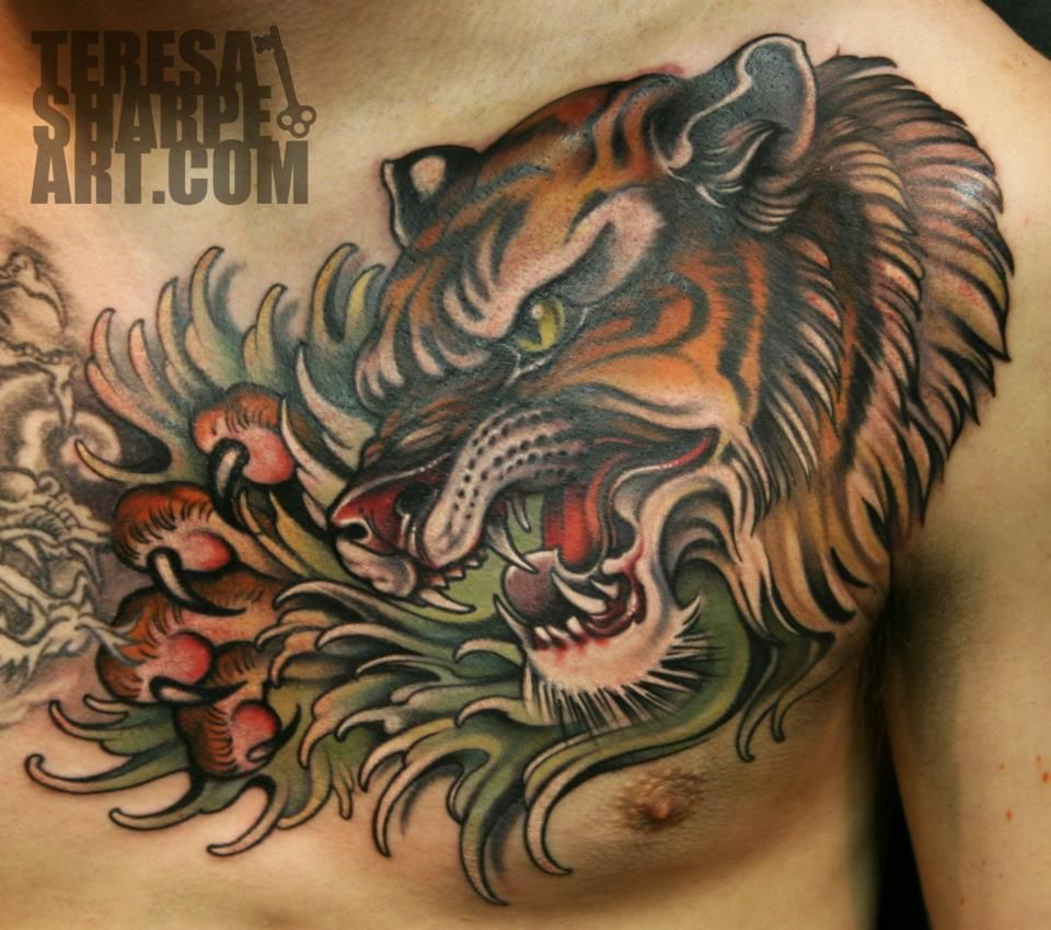 Chest Piece Tattoo Prices: Pin On TATTOOS = ART
