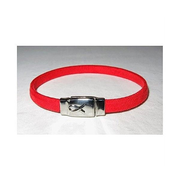 Until Theres A Cure Reminder Bracelet in Red. Large ($20) ❤ liked on Polyvore
