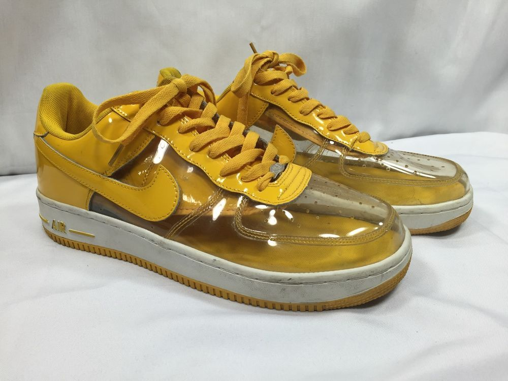 RETRO Nike Air Force 1 AF1 Yellow Transparent Clear See Thru Invisible  Vinyl 13  Nike  AthleticSneakers 834f780019