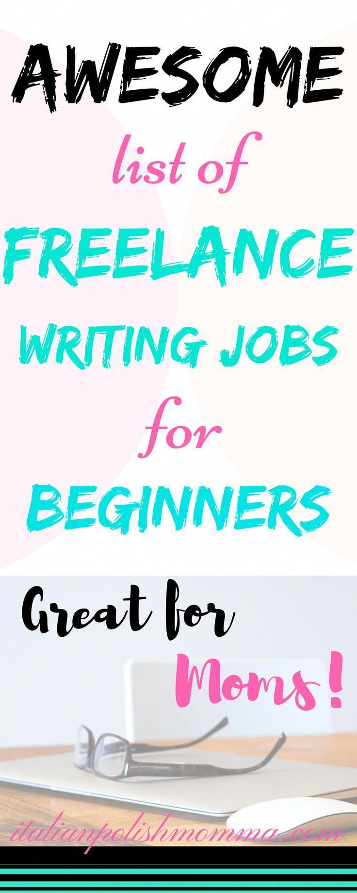 Awesome list of freelance writing jobs for beginners