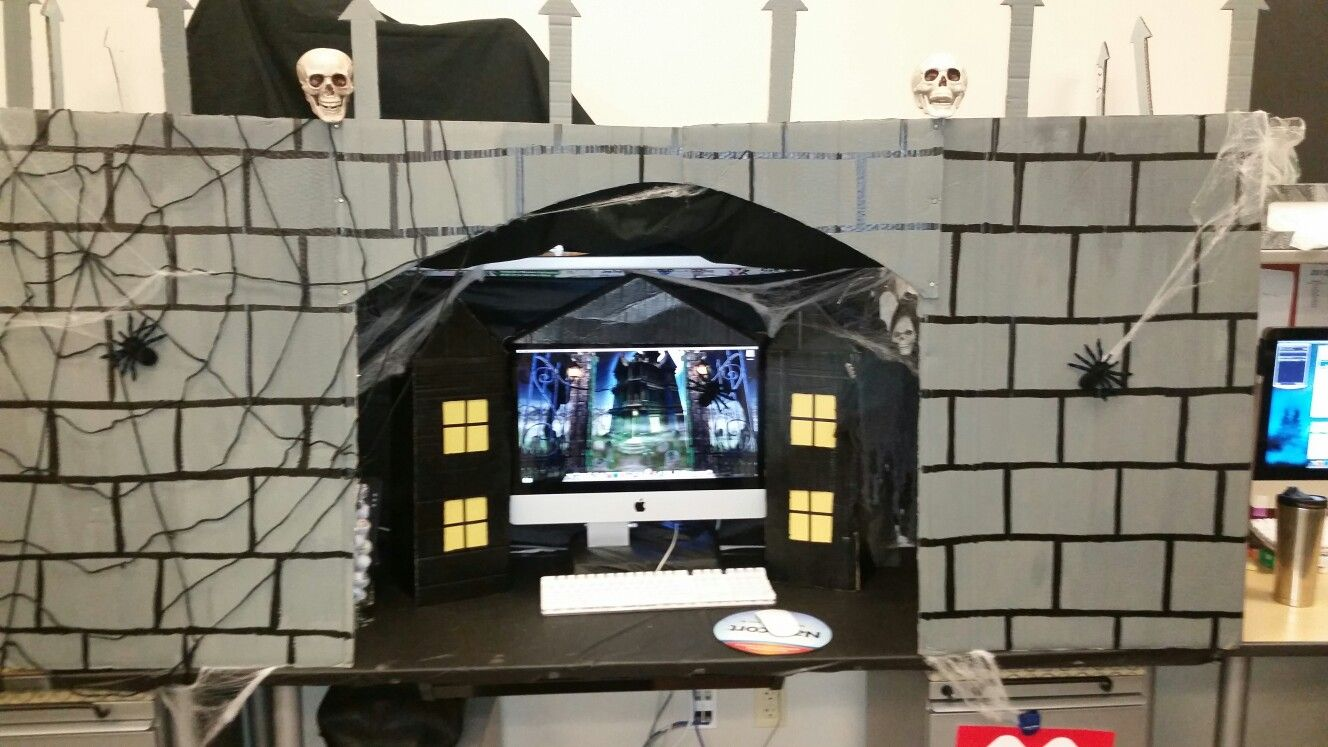 Halloween cubicle contest Halloween Ideas Pinterest Halloween - Cubicle Halloween Decorations