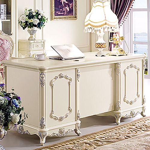 Delightful Free Shipping French Style Desk Fashion Study Furniture White Desk Office  Desk $8,566.02