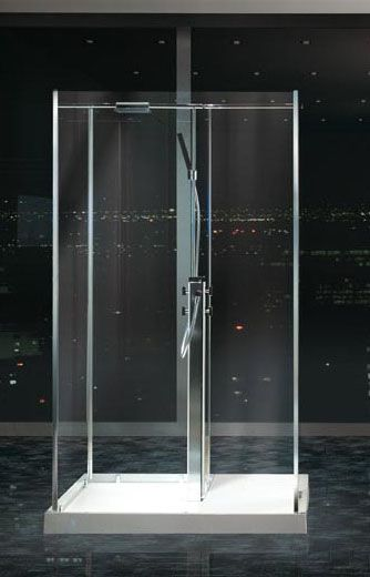 Matki Freestanding Walk In Four Sided Shower Enclosure With Two