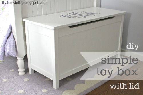Plans to Build a Simple Modern Toy Box with Lid | Free and Easy DIY Project and Furniture Plans