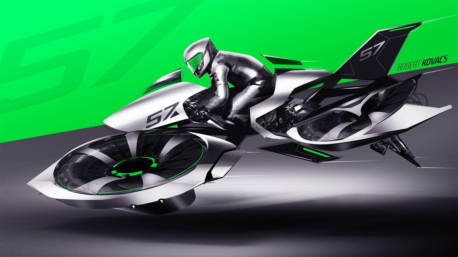 ArtStation - Race Drone, Robert Kovacs | VTOL | Hover bike ...