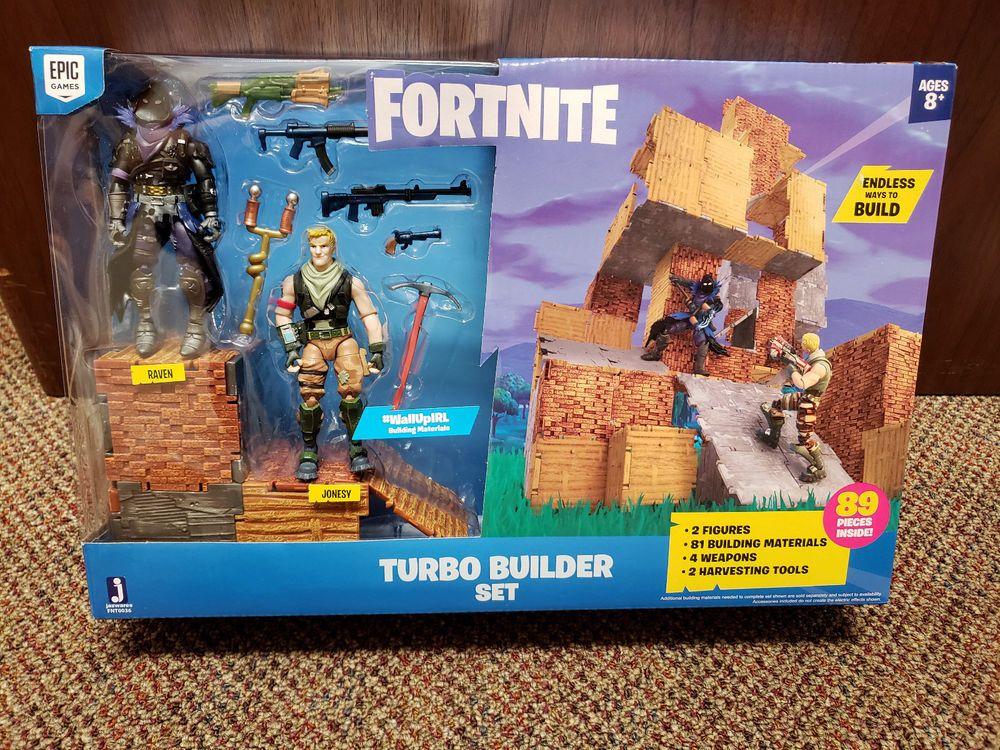Builder Set Ravenamp; Figures With Fortnite Jazwares Jonesy Turbo JTlK13Fc