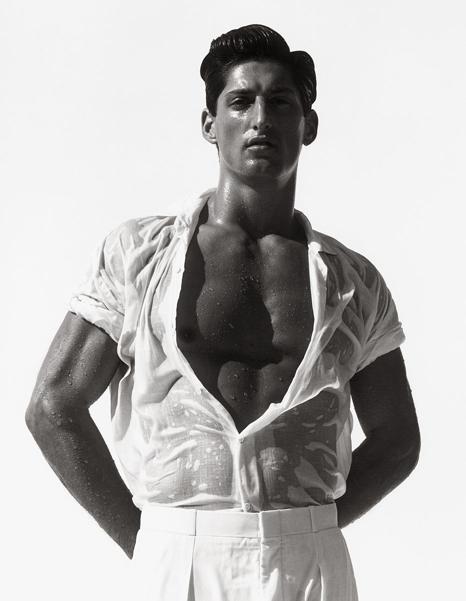 Herb Ritts | Tony in White, Hollywood 1988