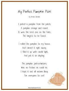 A {FREE} Pumpkin Poem for October! (MsJordanReads)