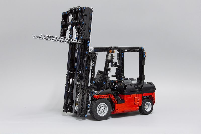 Lego Moc Moc 3681 Lego Technic Custom Forklift Mk Ii Building