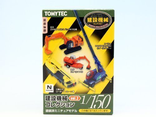 New TOMYTEC 1/150 Scale N Gauge Construction Machinery VOL.2 - 8 pcs Set #Tomytec
