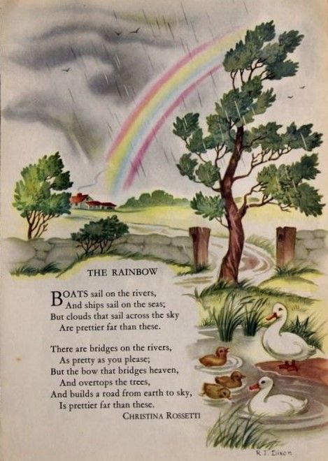 The Rainbow Iris Rainbow Johnson Kids Poems Poems Poetry