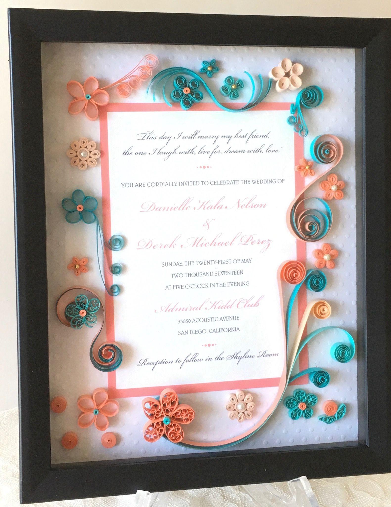 Personalized wedding invitation gift keepsake will last a lifetime ...