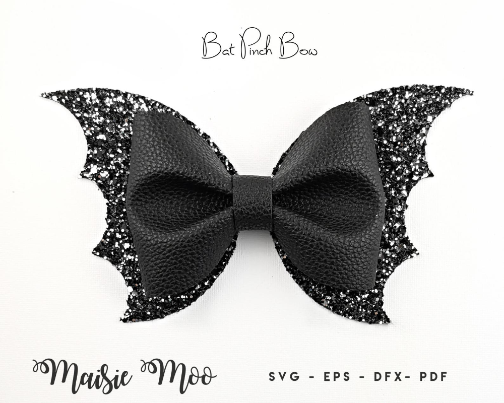 Bat Pinch Bow Svg Halloween Bow Template Bestseller Bat Etsy In 2021 Halloween Bows Diy Hair Bows Bow Template