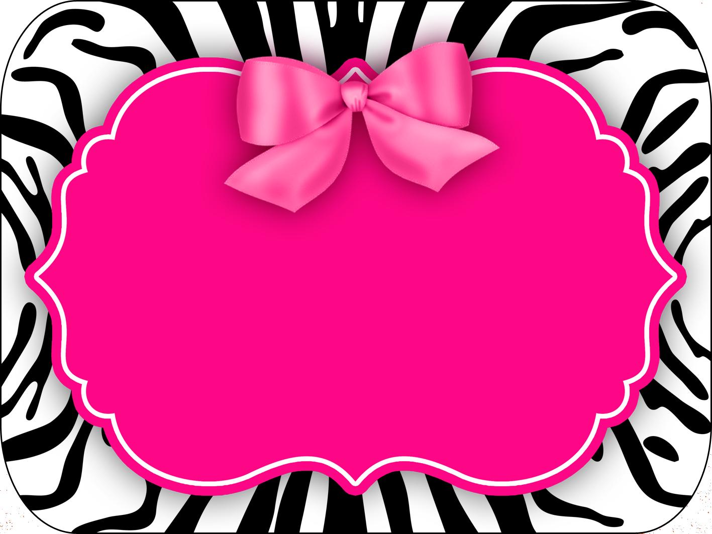 Montando a minha festa: Zebra rosa e preto | Caratulas y Etiquetas ...