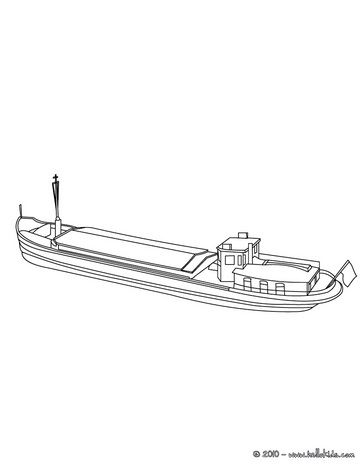 Barge Coloring Page Boat Coloring Pages Cargo Barge Coloring